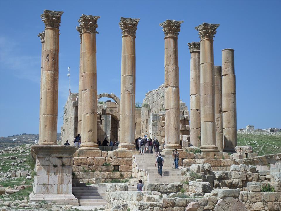Temple of Artemis in Jerash, Jordan  Temple of Artemis